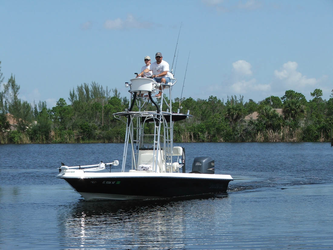 Action S Shearwater Flats Boat And Bay Boat Towers Photo