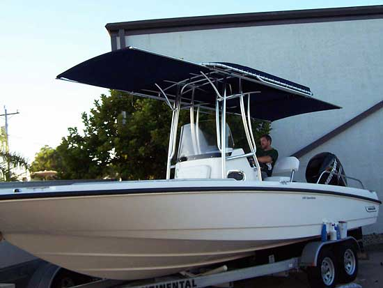 ACTIONu0027s Extend-A-Top on a T-Top Forward and Aft Tops : custom boat canopy - memphite.com