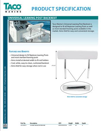 Universal Leaning Post Backrest