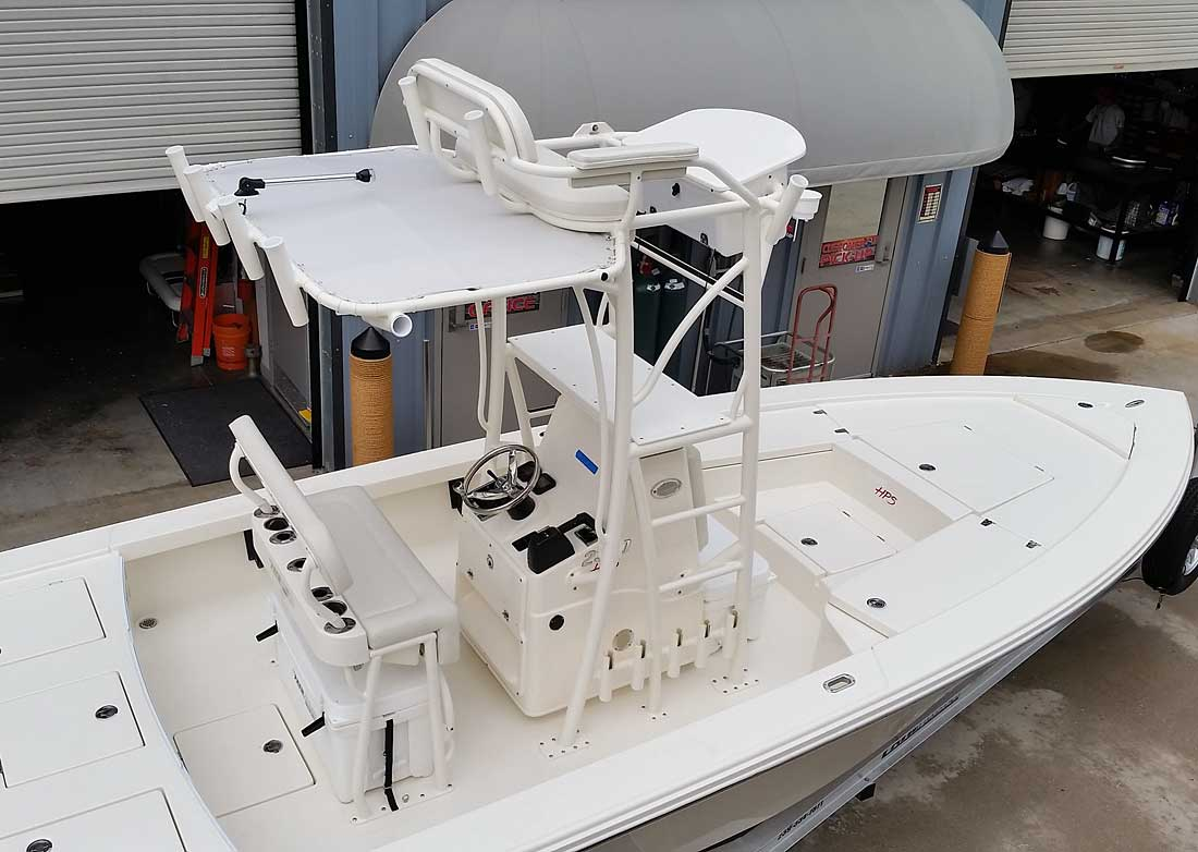 Custom Flats Boat and Bay Boat Towers by Action Welding