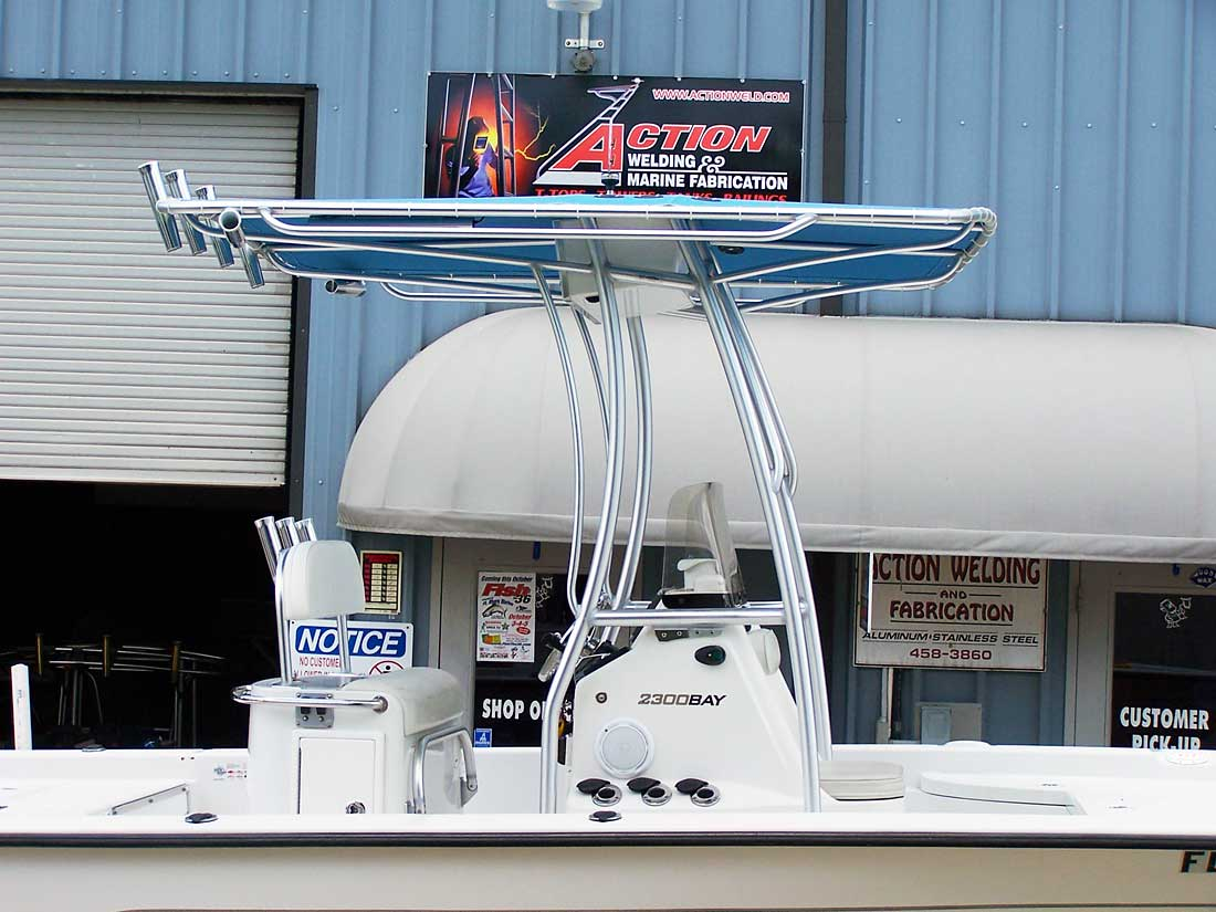 Nautic Star Boats >> T-Tops for Center Consoles Photo Gallery by Action Welding