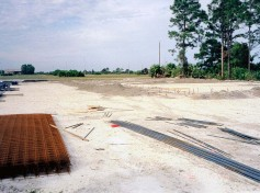 Breaking ground on the new Action Welding in 1998